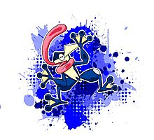 Greninja Makes A Splash Photographic Print