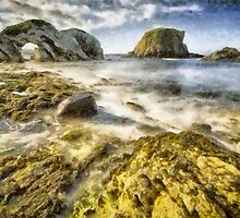 White Park Bay Sea Arch by Nigel R Bell