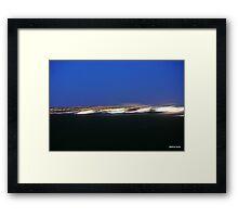 Fast lights over the River Mersey at Hale Bank  Framed Print