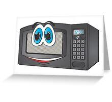 Black Male Microwave Cartoon Greeting Card