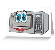 Stainless Steel Female Microwave Cartoon Greeting Card