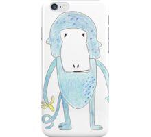 Blue monkey iPhone Case/Skin