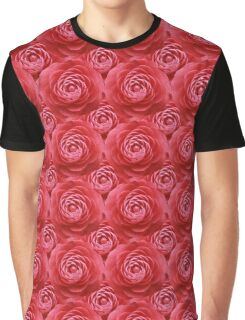 Natural Blooming Flowers - Pink Camellias Graphic T-Shirt