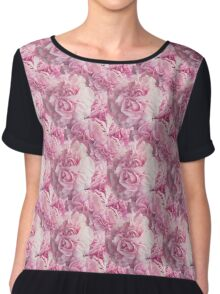 Natural Blooming Flowers - Pink Carnations Chiffon Top