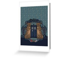 the Doctor crest ART NOUVEAU Greeting Card