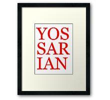 Literary T-Shirts: Yossarian Framed Print