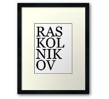Literary Heroes: Raskolnikov Framed Print