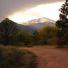 Pike's Peak and country road...Colorado Springs by dfrahm