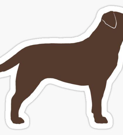 Chocolate Labrador Retriever Silhouette(s) Sticker