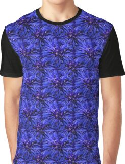 Natural Blooming Flowers - Blue Purple Cornflower Graphic T-Shirt