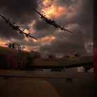 Three Lancasters by Nigel Bangert