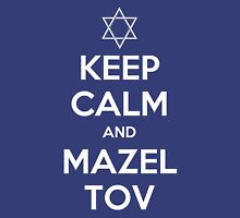 Keep Calm and Mazel Tov Womens Fitted T-Shirt