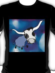 MOODI - blue cow 002, by m a longbottom - PLATFORM58 T-Shirt