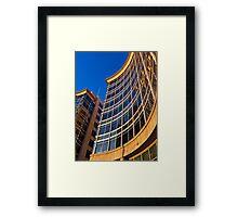 Morning sun and blue sky Framed Print
