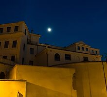Magical Rome, Italy - Yellow Facades and Moonlight by Georgia Mizuleva