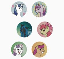 Sticker Badges - My Little Pony Secondaries! Kids Clothes