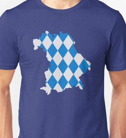 Bavaria map flag Unisex T-Shirt