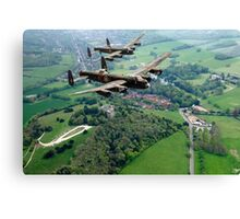 Two Lancasters over West Wycombe Canvas Print