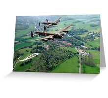 Two Lancasters over West Wycombe Greeting Card