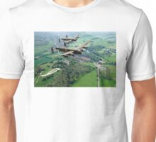 Two Lancasters over West Wycombe Unisex T-Shirt
