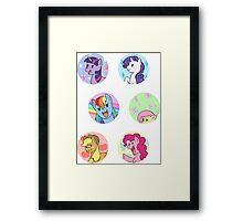 Sticker Badges - My Little Pony Mane Six Framed Print