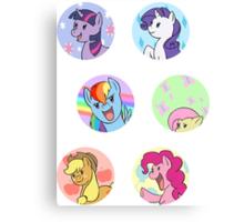 Sticker Badges - My Little Pony Mane Six Canvas Print