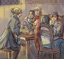 The Three Broomsticks by noravannah