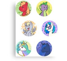 Sticker Badges - My Little Pony Secondaries! Canvas Print