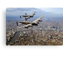 Two Lancasters over London Canvas Print