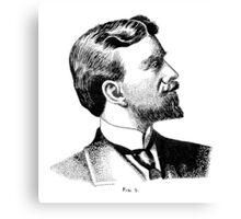 Portrait 5 - Pen & Ink Canvas Print