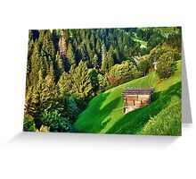Zillertal Valley Greeting Card