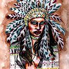 Lumbee Woman - Indian Native American by Heaven7