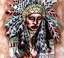 Lumbee Woman - Indian Native American by Heaven7