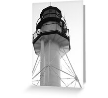 Lighthouse White Fish Point Greeting Card
