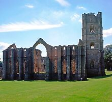 Fountains Abbey, Midsummer by Priscilla Turner