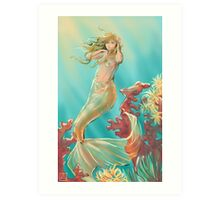 Mermaid Krista Art Print