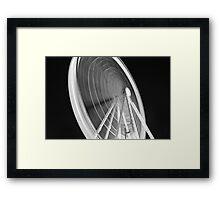 Liverpool Wheel on Black Framed Print