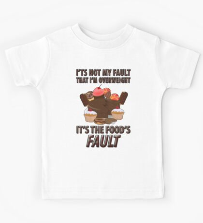 A Funny Colorful Brown Dessert Filled Meme T-Shirt Kids Tee