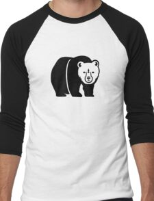 Black bear Men's Baseball ¾ T-Shirt