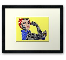 Cyborg Rosie - Color Framed Print