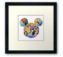 Princess Mickey Ears Framed Print