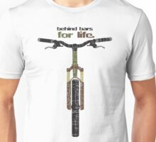Biker Behind Bars For Life funny gift Unisex T-Shirt