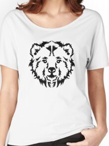 Bear head face Women's Relaxed Fit T-Shirt