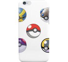 5 Pokeballs  iPhone Case/Skin