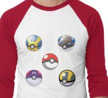 5 Pokeballs  Men's Baseball ¾ T-Shirt