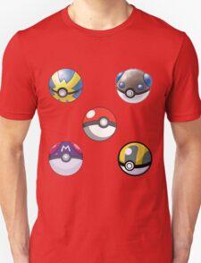 5 Pokeballs  T-Shirt