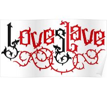 Love Slave (black red) Poster