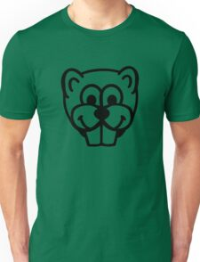 Beaver head face Unisex T-Shirt