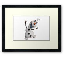 Olaf Frozen  Framed Print