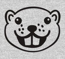 Funny beaver head face One Piece - Long Sleeve